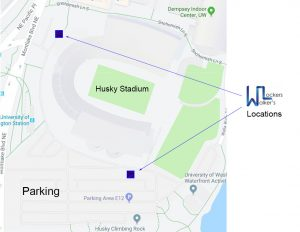 Walker's Lockers Service Locations at Husky Stadium